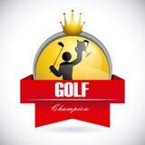 Golf design. Golf  design over gray  background vector illustration Royalty Free Stock Image