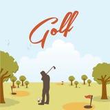 Golf design. Over landscape  background  illustration Royalty Free Stock Photo
