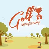 Golf design. Over landscape  background  illustration Royalty Free Stock Photography