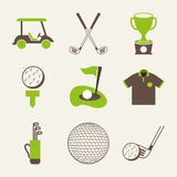 Golf design Stock Images