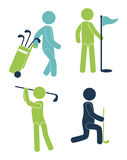 Golf design pictograph Royalty Free Stock Image
