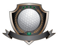 Golf Design Shield Royalty Free Stock Image