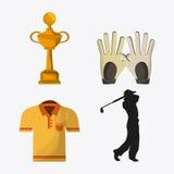 Golf design. Sport icon. Flat illustration , editable vector Royalty Free Stock Photography
