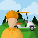 Golf design. Sport icon. Flat illustration , editable vector Royalty Free Stock Photo