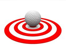 Golf - detail ball Stock Photography