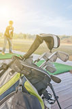 Golf di pratica della gioventù Fotografia Stock Libera da Diritti