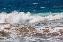 Golf die met zand van de bodem wordt gemengd royalty-vrije stock afbeelding