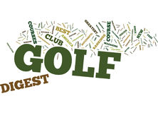 Golf Digest Word Cloud Concept Stock Photo