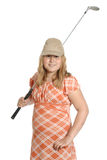 Golf dilettante del bambino Fotografia Stock Libera da Diritti