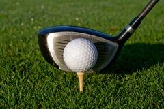 Golf Driver And Ball - Horizontal Royalty Free Stock Image