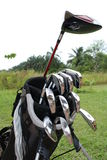 Golf Driver And Steel Irons In The Bag Royalty Free Stock Photos