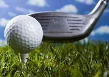 Golf, driver and ball Stock Image