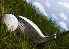 Golf, driver and ball Stock Images