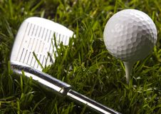 Golf, driver and ball Royalty Free Stock Photos