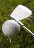 Golf, driver and ball Stock Photography