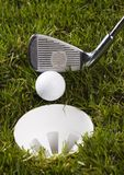 Golf, driver and ball Royalty Free Stock Image