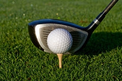 Golf Driver and Ball - Horizontal Royalty Free Stock Image