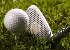 Golf, driver e sfera fotografia stock libera da diritti