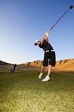 Golf driver swing Royalty Free Stock Photos
