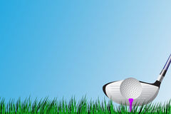 Golf Driver T-Off Stock Image