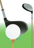 Golf drivers  and ball. Royalty Free Stock Photography