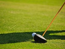 Golf driving royalty free stock photography