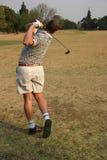 Golf driving range. Golf, practising on the driving range Stock Photo