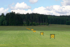Golf driving range Stock Image