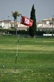 Golf driving range flag Stock Photo