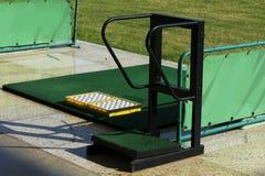 Golf driving range, Stock Photo