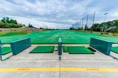 Golf driving range stations above ground Royalty Free Stock Photos
