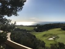 Golf durch das Meer Stockfoto