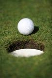 Golf el agujero Foto de archivo libre de regalías
