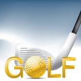 Golf el deporte Imágenes de archivo libres de regalías