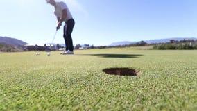 Golf el putt almacen de video