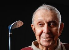 Golf elderly Stock Photos
