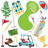 Golf elements Stock Photos