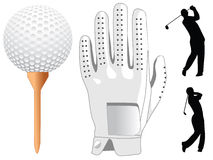 Golf elements Royalty Free Stock Photos
