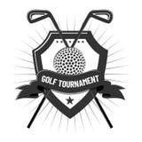 Golf elements design on white background royalty free stock photos