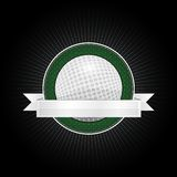 Golf emblem. Emblem for the baseball with ribbon for your text Royalty Free Stock Image