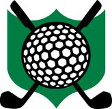 Golf Emblem with Clubs. Vector Royalty Free Stock Image