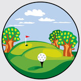 Golf emblem Stock Image