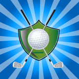 Golf Emblem Royalty Free Stock Photography