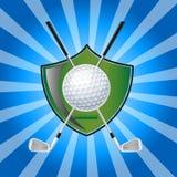 Golf Emblem. Vector illustration of a golf emblem on a blue background Royalty Free Stock Photography