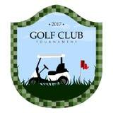golf emblem. On a white background, Vector illustration Royalty Free Stock Photos