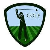 Isolated golf emblem. Golf emblem on a white background, Vector illustration Stock Photos
