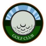 Isolated golf emblem. Golf emblem on a white background, Vector illustration Stock Photography