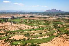 Golf en el desierto Fotos de archivo libres de regalías