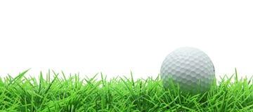 Golf en hierba verde en blanco Imagen de archivo