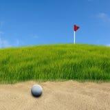 Golf en la arena Imagen de archivo libre de regalías